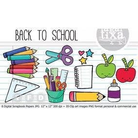 Kit Imprimible Papel Digital Escolar Colegio Fondos Jpg