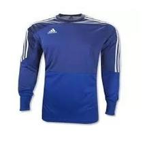 Camisa De Goleiro adidas Com Cotoveleira Azul