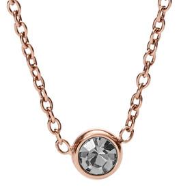 Collar Dama Fossil Classics Jf02533791 Color Oro Rosado