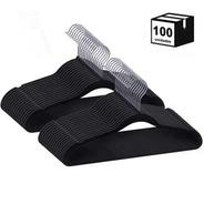 Kit 100 Cabides De Veludo Slim Antideslizante Para Roupas