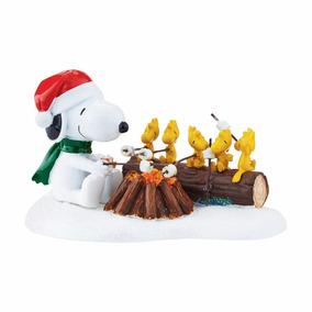 Villa Navideña Snoopy Figura Navidad Woodstock Envio Gratis