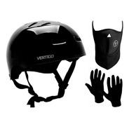 Casco Bicicleta Skate Rollers Vertigo Vx + Guantes + Mascara