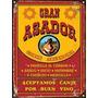 Cartel De Chapa Vintage Retro Gran Asador L327