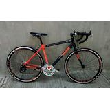 Bicicleta De Ruta/carreras Aluminio 700c 14 Veloc Nueva Monk