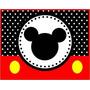 Kit Imprimible Para Tu Fiesta De Mickey Rojo Y Negro
