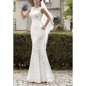 Vestido De Noiva Sereia Em Renda D036