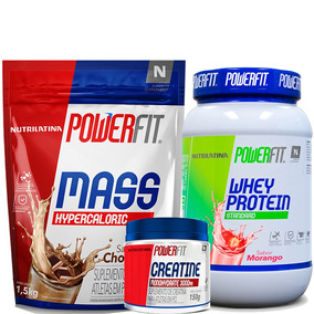Kit Whey Protein Moran + Massa Choco + Creatina Nutrilatina