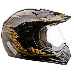 Capacete Esportivo Moto Ebf Motard Street Cross 56 Dourado