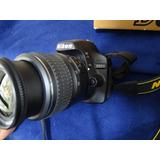 Nikon D3200 Con Lente 18-55, Muy Buen Estado