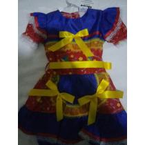 Vestidos Juninos Infantil Quadrilha No Tamanho 4