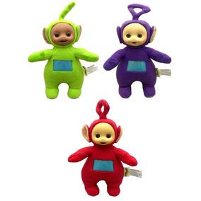 Kit Bonecos Pequenos Teletubbies Tinky Winky E Dipsy E Po