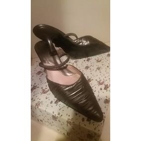 Zapatos Stiletos Color Peltre