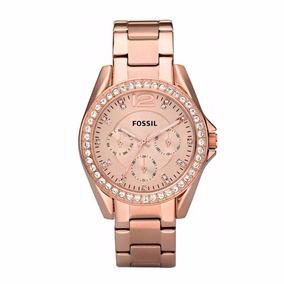 Reloj Fossil Riley Es2811 Oro Rosa 100% Original Para Dama*