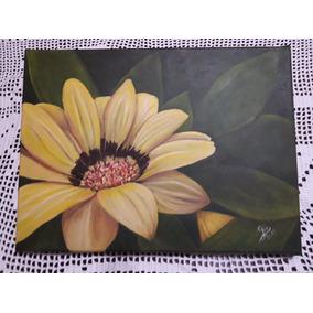 Cuadro Margatita Flor De Autor Al Oleo Único