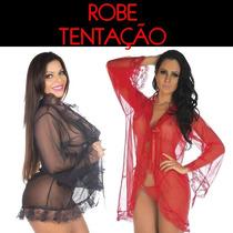 Hobby Robe Tentação Renda Transparente Sexy Lingerie Hobe