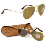 Óculos Ray Ban Rb3025 Aviador Polarizado 58 M 62 G Consulte c990990d31