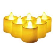 Kit 12 Vela Eletrônica Decorativa Led Amarela + 36 Baterias