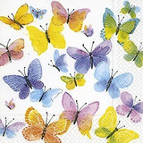 Servilletas X20 Mariposas Color Vivo