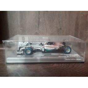 1/43 Miniatura Mercedes Hamilton Minichamps Campeão 2014