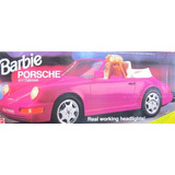 Juguete Barbie Car Porsche 911 Cabriolet Vehículo W Faros D