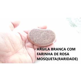 Sabonete De Argila Branca Farinha De Rosa Mosqueta Artesanal