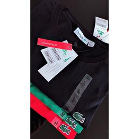 3da3fc6cbe Camiseta Lacoste Gola V - Camisetas Manga Curta no Mercado Livre Brasil
