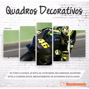 Quadro Decorativo Moto Gp Valentino Rossi 46 114x65 5p