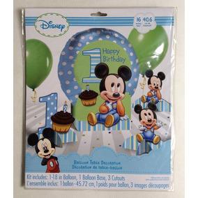 Baby Mickey Mouse 1er Año Centro De Mesa Con Globo Importado