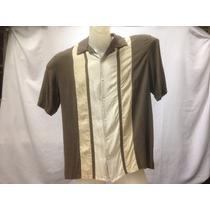 Camisa Seda Axist Marrom Listas Tons De Marrom Gg 111-220