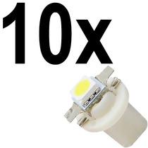 10x Lâmpada Led Smd Painel Automotivo T5 B8.5 Cor Branca