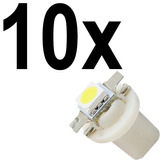 10 X Lampada Led Branca Neon T5 B8.5 Painel Compativel Gm