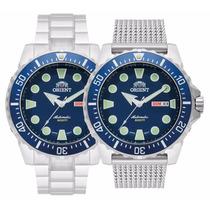 Novo Orient Diver 500m Automatico 469ss073 Azul Scuba Netuno