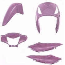 Kit Plástico Carenagem Biz125 Es Ks Ano 2010 Rosa Perolizado
