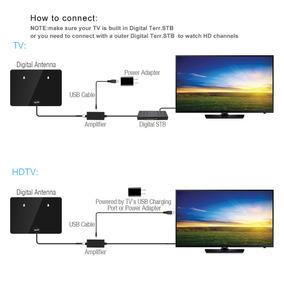 Estados Unidos Interior Antena De Tv Digital 50-100 Millas