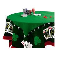 Toalha Mesa Para Jogos Poker Baralho Carteado Aveludada