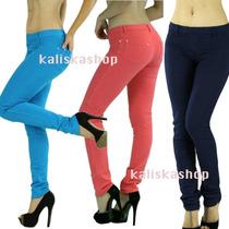 Calza Colores Leggings Stylo Jeans Chupin Kaliskashop Talles