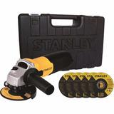 Amoladora Angular Stanley 115mm 710w C/maletin Y Discos
