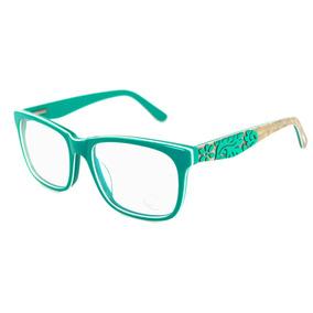 Armação De Grau Óculos Acetato Verde Quadrada Feminina