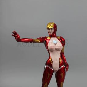 Action Figure Pepper Potts Iron Girl Mulher De Ferro 26cm