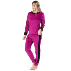 Pijama Feminino De Plush Aveludado Dulmar