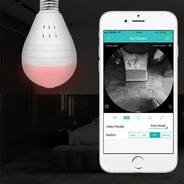 Camera Lampada Seguraça Vr 360 Espia Wifi App Icsee