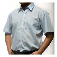 Camisa Manga Corta Lisa Hombre Variedad Colores Con Bolsillo