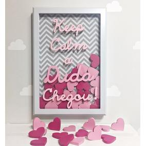Enfeite Porta Maternidade Keep Calm Personalizado Coração