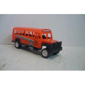 Autobus Escolar - Camioncito De Pasajeros Juguete Antiguo