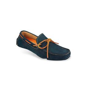 Zapato Mocasín Casual Hombre Mega 1672 Azul