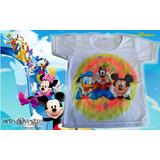 Remera Mickey Y Amigos Pintada A Mano!! Talles 2 Al 16