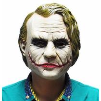 Máscara Coringa Látex Carnaval Halloween Joker Vilão Batman