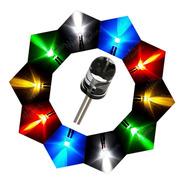 50 Un. Kit Led 5mm Alto Brilho - Kit Várias Cores+ Resistor