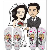 Kit Chinelo Personalizado Para Casamento, 15 Anos, Formatura