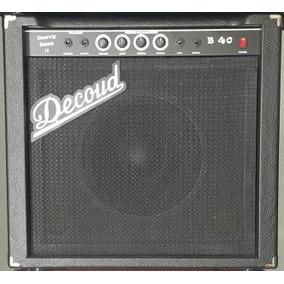 Decoud B40 Amplificador Para Bajo 40w Rms En Caja Cerrada